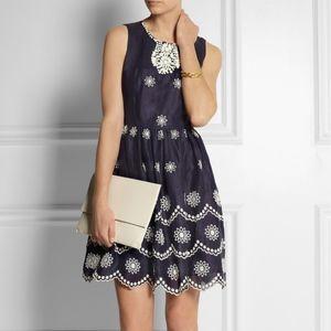 Dresses & Skirts - Collette Dinnigan Navy broderie anglais dress